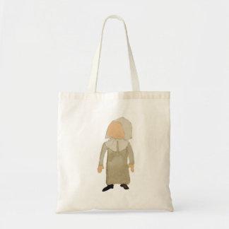 November Thanksgiving Pilgrim Puritan Toddler Girl Budget Tote Bag