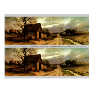 November Twilight  (1912) Barn and Fields Bookmark Postcard