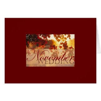 November Wedding Card