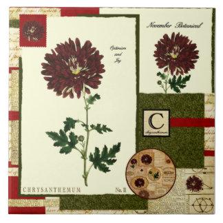 November's Flower Ceramic Tiles