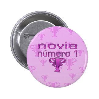 Novia Número 1 Pinback Button