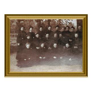 Novice nuns, France 1890 Postcard
