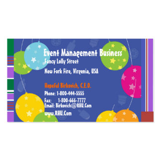 NOVINO : BLUE BALLOONS EVENT MANAGEMENT PRINT PACK OF STANDARD BUSINESS CARDS