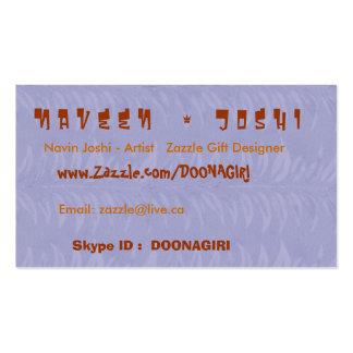 NOVINO Card Templates - Havenly Blue Leaf Design Business Card Templates