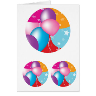 NOVINO Celeberations - Baloons,Stars n Hearts Greeting Card