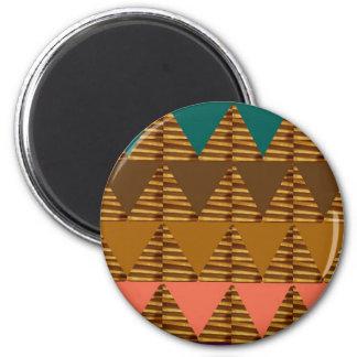 NOVINO Gold, Brown, Symbols,Artistic Gift LOWPRICE 6 Cm Round Magnet