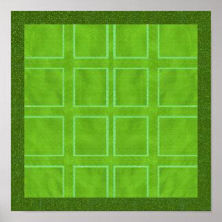 NOVINO Hues of  Green Presentation Print