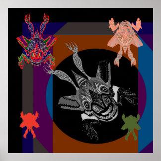 NOVINO   Many Faced Alien Creatures Poster