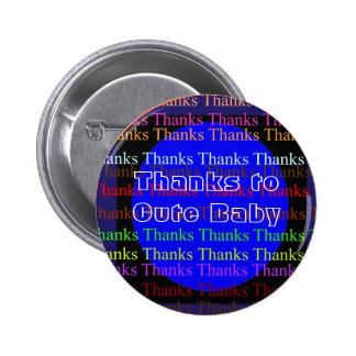 NOVINO Manyways to Thankyou - Thank You 6 Cm Round Badge