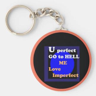 NOVINO : Me love imperfect Basic Round Button Key Ring