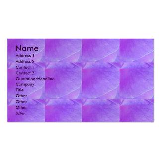 NOVINO - Purple Flower Leaf Business Card Template