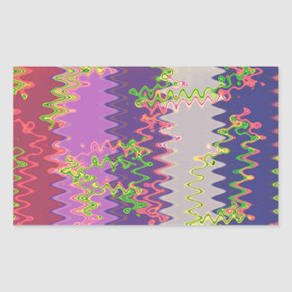 NOVINO Soft Purple Pink Wave Graphic Print GIFTS Rectangle Stickers