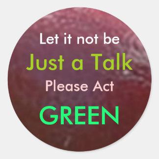 NOVINO  .. Think GREEN ThinkGREEN Round Stickers
