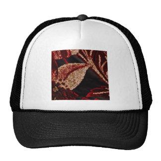 NOVINO Zazzling Golden Leaf Mesh Hat