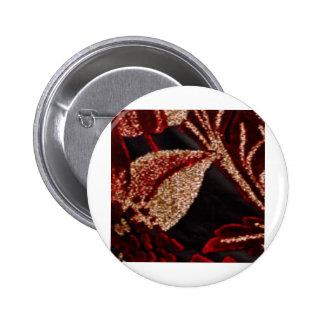 NOVINO Zazzling Golden Leaf Pinback Button