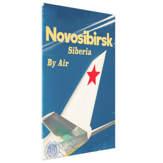 Novosibirsk Siberia soviet union flight poster Canvas Print