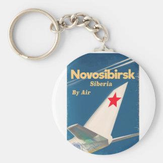 Novosibirsk Siberia soviet union flight poster Key Ring
