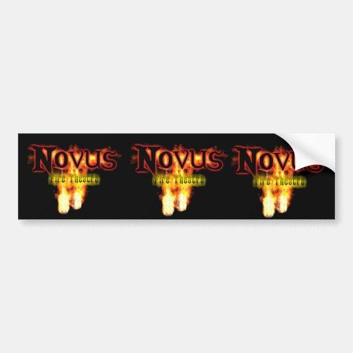 novus Fire Theatre 3 stickers Bumper Stickers