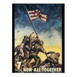 Now All Together World War 2 Postcard