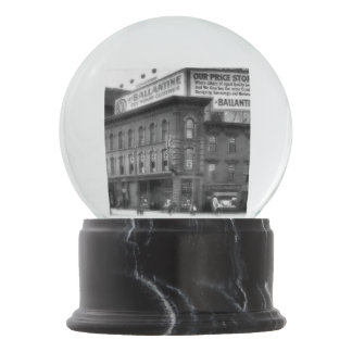 Now and Then Griswold and State Detroit Snow Globe