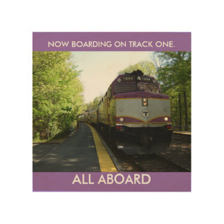 NOW ARRIVING ON TRACK ONE WOOD WALL DECOR