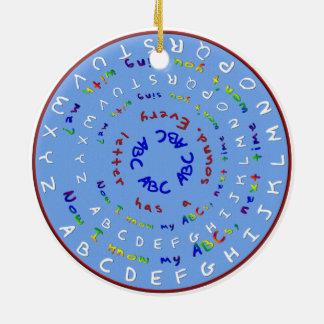 Now I know My ABCs Round Ornament