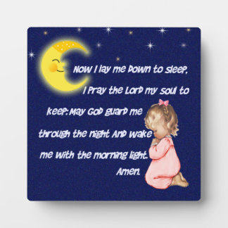 Now I Lay Me Down To Sleep Plaques