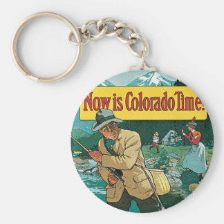 Now is Colorado Time Basic Round Button Key Ring