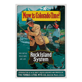 Now Is Colorado Time Rock Island System Railroad Poster