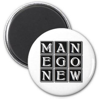 Now new man 6 cm round magnet
