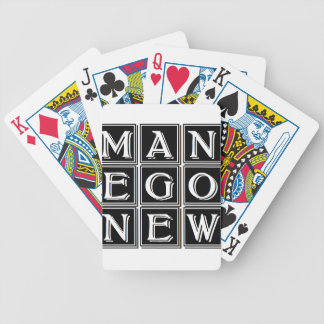 Now new man bicycle playing cards