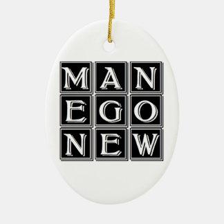 Now new man ceramic ornament