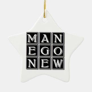 Now new man ceramic star decoration