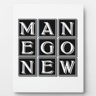 Now new man display plaque