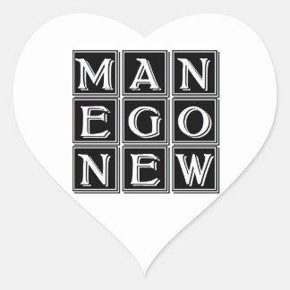 Now new man heart sticker
