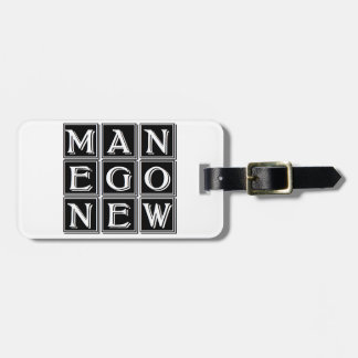 Now new man luggage tag