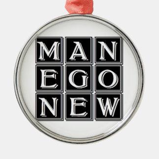 Now new man metal ornament