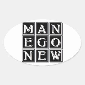 Now new man oval sticker