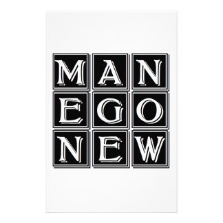 Now new man personalised stationery