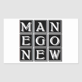 Now new man rectangular sticker