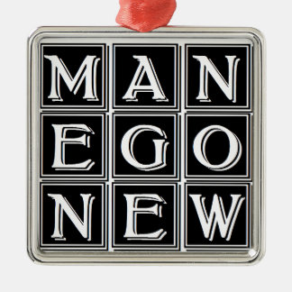 Now new man Silver-Colored square decoration