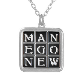 Now new man silver plated necklace