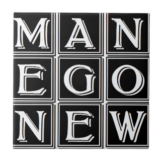 Now new man small square tile