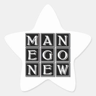Now new man star sticker