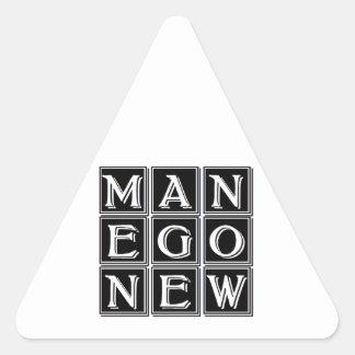 Now new man triangle sticker