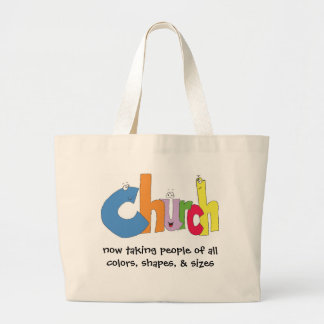 now taking people of all colors, shapes, & sizes large tote bag