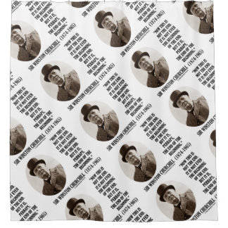Now This Not The End Beginning Winston Churchill Shower Curtain