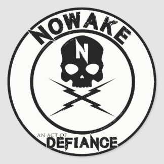 "NOWAKE ""An Act of Defiance"" Stickers"