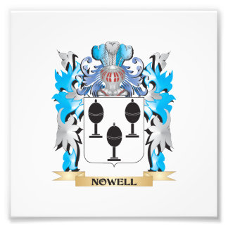 Nowell Coat of Arms - Family Crest Art Photo