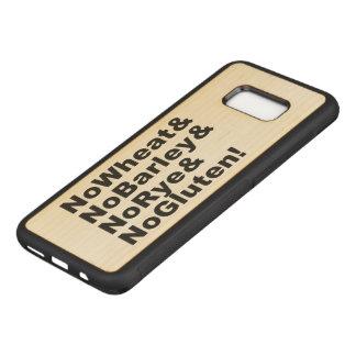 NoWheat&NoBarley&NoRye&NoGluten! (blk) Carved Samsung Galaxy S8+ Case